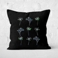 Pressed Flowers Inverted Trio Flower Print Square Cushion - 50x50cm - Soft Touch