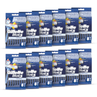 Gillette Blue3 Disposable Razors (96 Pack - 12 Month)