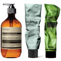 Aesop Body Scrub, Body Cleanser and Toothpaste Bundle (Worth £70.00)