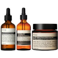 Aesop Lucent Concentrate, Triple C Balancing Gel and Parsley Seed Serum Bundle (Worth PS225.00)