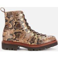 Grenson Women's Nanette Leather Hiking Style Boots - Snake - UK  3