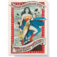 Wonder Woman Happy Father's Day To My Mum Greetings Card - Standard Card