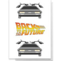 Back To The Future DeLorean Greetings Card - Standard Card