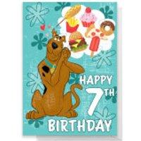 Scooby Doo 7th Birthday Greetings Card - Standard Card