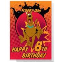 Scooby Doo 8th Birthday Greetings Card - Standard Card