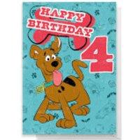 Scooby Doo 4th Birthday Greetings Card - Standard Card