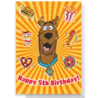 Scooby Doo 5th Birthday Greetings Card - Standard Card