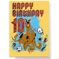 Scooby Doo 10th Birthday Greetings Card - Standard Card