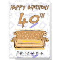 Friends Birthday 40th Greetings Card - Standard Card