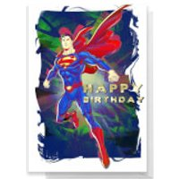 Superman Happy Birthday Greetings Card - Standard Card