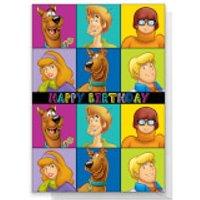 Scooby Doo Gang Happy Birthday Greetings Card - Standard Card