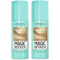 L'Oreal Paris Magic Retouch Light Golden Blonde Root Concealer Spray Duo Pack