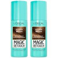 L'Oreal Paris Magic Retouch Golden Brown Root Concealer Spray Duo Pack