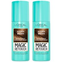 L'Oreal Paris Magic Retouch Golden Brown Root Concealer Spray Duo Pack