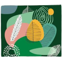 Abstract Leaves And Feathers Fleece Blanket