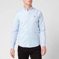 AMI Men's Boutonne Shirt - Light Blue - M