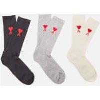 AMI Men's De Coeur Socks - Multi