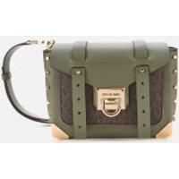 MICHAEL MICHAEL KORS Womens Manhattan Small Messenger Bag - Army Green