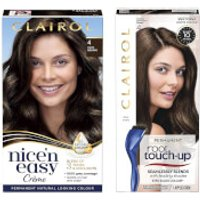 Clairol Nice' n Easy Permanent Hair Dye and Root Touch up Duo (Various Shades) - 4 Dark Brown