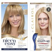 Clairol Nice' n Easy Permanent Hair Dye and Root Touch up Duo (Various Shades) - 9A Light Ash Blonde