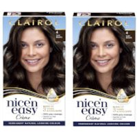Clairol Nice' n Easy Creme Natural Looking Oil Infused Permanent Hair Dye Duo (Various Shades) - 4 D