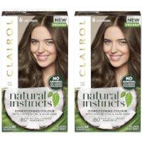 Clairol Natural Instincts Semi-Permanent No Ammonia Vegan Hair Dye Duo (Various Shades) - 6 Light Br