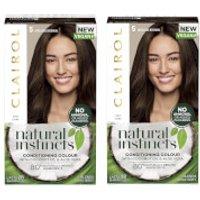 Clairol Natural Instincts Semi-Permanent No Ammonia Vegan Hair Dye Duo (Various Shades) - 5 Medium B