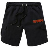DC Wonder Woman WW84 Embroidered Unisex Cargo Shorts - Black - L