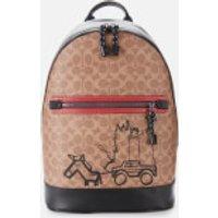 Coach Men's Barrow Backpack - Khaki/Red