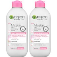 Garnier Micellar Milk Cleansing Water 400ml Duo Pack