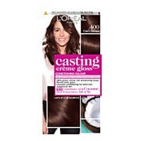 L'Oréal Paris Casting Crème Gloss Semi-Permanent Hair Dye (Various Shades) - 400 Dark Brown