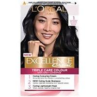 L'Oreal Paris Excellence Creme Permanent Hair Dye (Various Shades) - 1 Natural Darkest Black