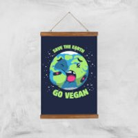 Ilustrata Save The Earth Giclee Art Print - A3 - Wooden Hanger