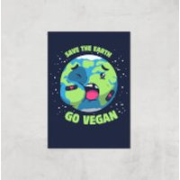 Ilustrata Save The Earth Giclee Art Print - A2 - Print Only