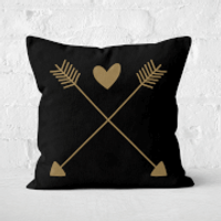 Hearts And Arrows Square Cushion - 60x60cm - Soft Touch