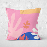 Colourful Abstract Square Cushion - 60x60cm - Soft Touch