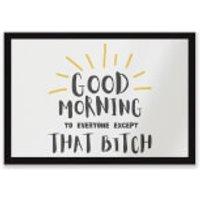 Good Morning Entrance Mat