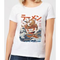 Ilustrata The Great Ramen Off Women's T-Shirt - White - 3XL - White