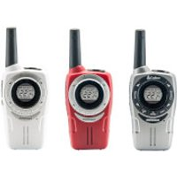 Cobra SM660 Weather Resistant Walkie Talkie - White/Red/Silver (3 Pack)
