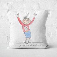 Rock On Grandma! Square Cushion - 40x40cm - Soft Touch
