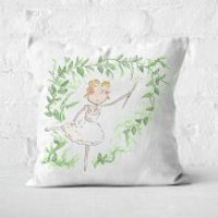 Beauty Dances With Spindle Square Cushion - 50x50cm - Soft Touch