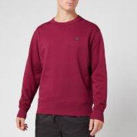 Acne Studios Men's Fairview Face Sweatshirt - Dark Pink - M
