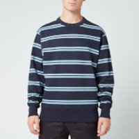 Acne Studios Men's Striped Face Sweatshirt - Navy Blue - S