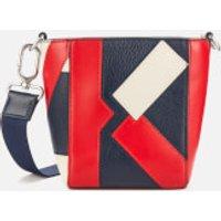 shop for KENZO Women's Kube Tricolour Mini Tote Bag - Medium Red at Shopo