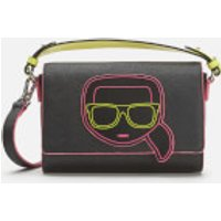 shop for Karl Lagerfeld Women's K/Ikonik Neon Cross Body Bag - Black at Shopo