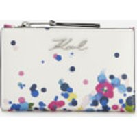 Karl Lagerfeld Women's K/Signature Special Degrade Zip Wallet - White