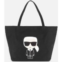 shop for Karl Lagerfeld Women's K/Ikonik Karl Tote Bag - Black at Shopo