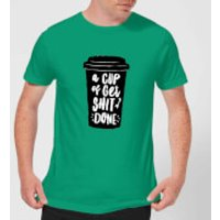 The Motivated Type A Cup Of Get Shit Done Men's T-Shirt - Kelly Green - L - Kelly Green