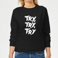 The Motivated Type Motivated Type.ai -18 Women's Sweatshirt - Black - M - Black