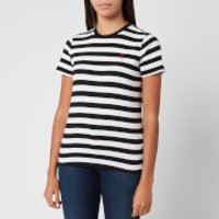 Polo Ralph Lauren Women's Stripe Short Sleeve T-Shirt - White/Polo Black - XS